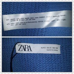 Zara Tops - NWT Zara Crop Top Blue Size Small